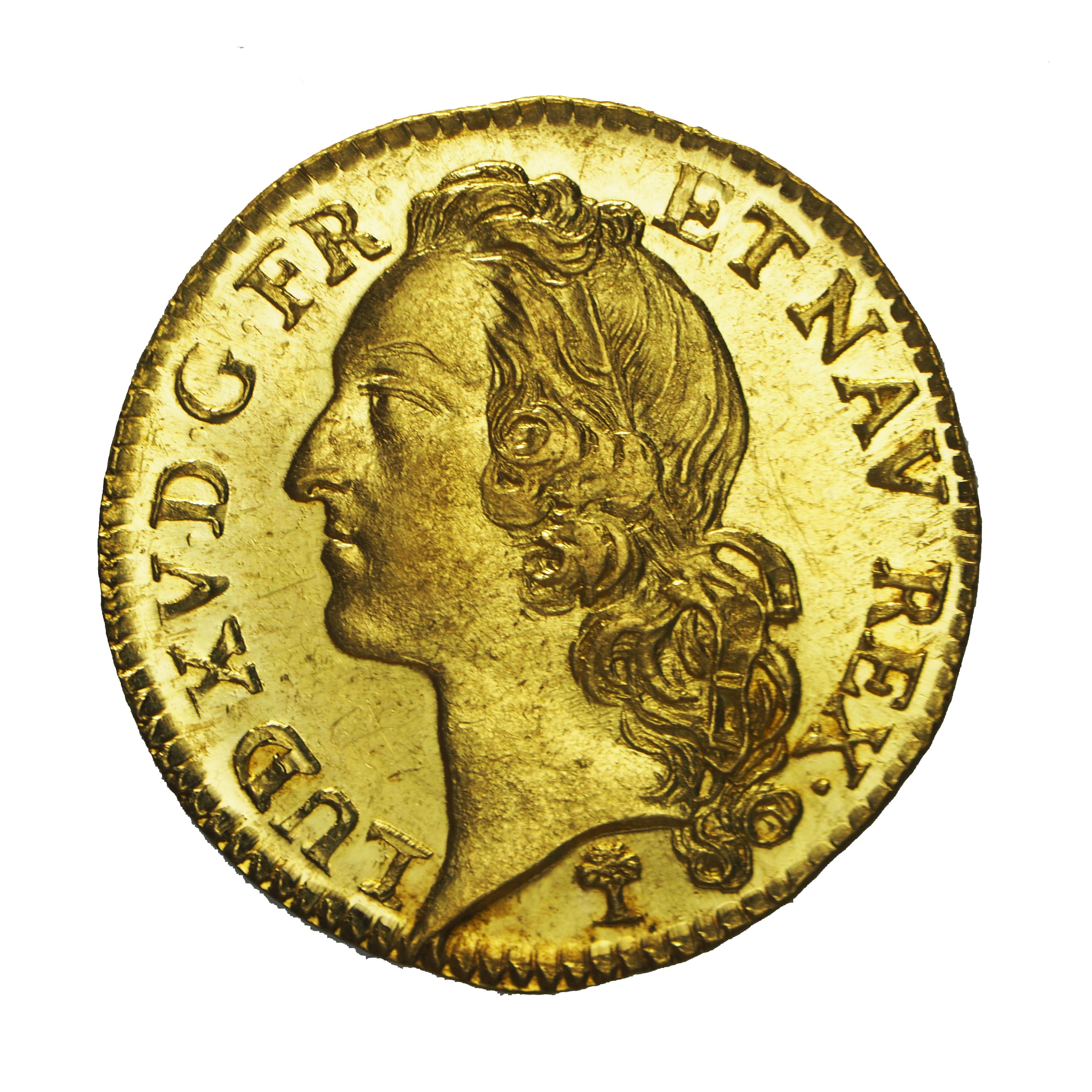 Louis XV, Louis d'or 1742 V Troyes SPLENDIDE et seul ex. connu. PCGS MS63