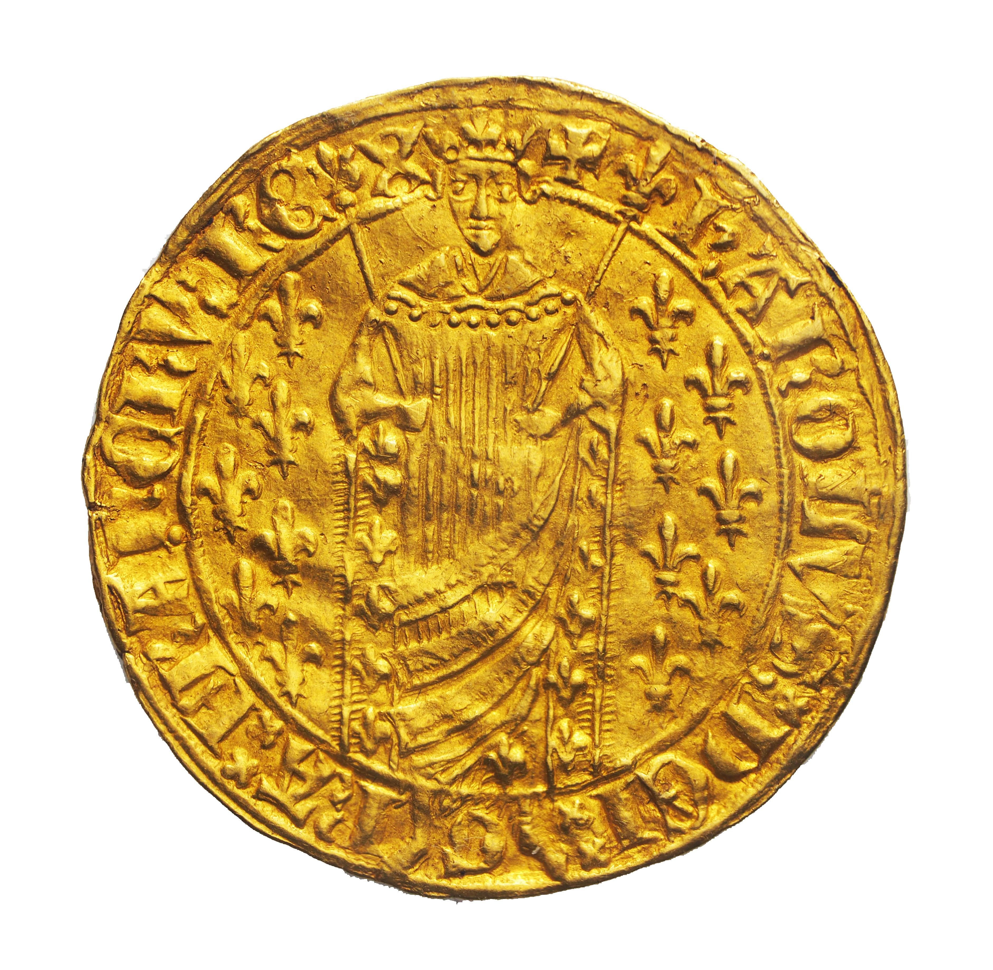Charles VII (1422-1461), Royal d'or, 1429, Montélimar, 1er émission, SPLENDIDE !